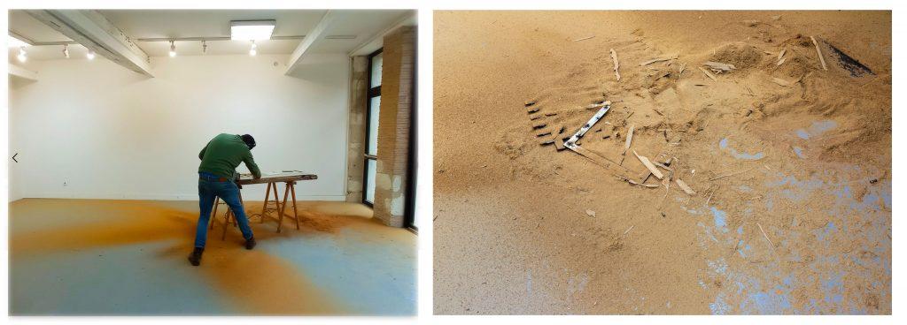 Fig. 3 et 4 : Personne ne t'entend crier, résidence d'artiste à Monflanquin, 2020.